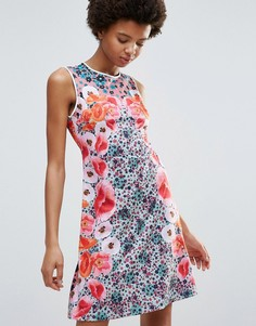 Трикотажное платье Clover Canyon Poppy Blossoms - Мульти