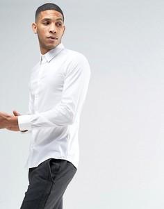 Эластичная приталенная рубашка United Colors of Benetton - Белый