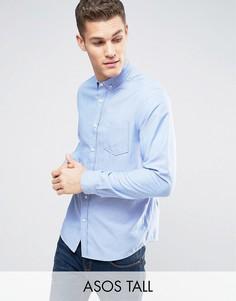 Синяя оксфордская рубашка классического кроя ASOS TALL - Синий