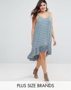 Платье с асимметричной кромкой Diya Plus - Синий