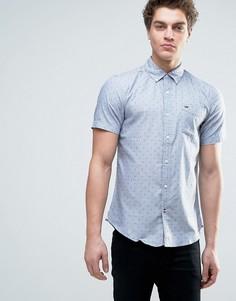 Рубашка с короткими рукавами и принтом Tommy Hilfiger Denim - Синий