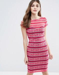 Кружевное облегающее платье в полоску Paper Dolls - Мульти