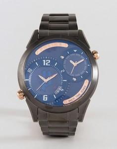 Стальные часы серебристого цвета Police Dugite - Серебряный