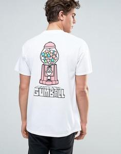 Футболка с принтом на спине New Love Club Gumball - Белый