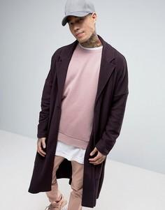 Фиолетовое трикотажное oversize-пальто ASOS - Фиолетовый