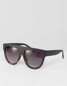 Солнцезащитные очки-авиаторы с плоским верхом ASOS - Черный