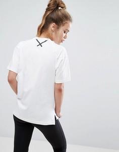 Белая прямая футболка adidas Xbyo - Белый
