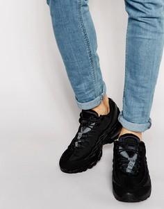 Кожаные кроссовки Nike Air Max 95 609048-092 - Черный