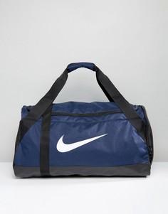 Темно-синяя сумка дафл среднего размера Nike Brasilia BA5334-410 - Темно-синий