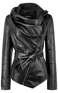 Кожаная куртка с капюшоном La Reine Blanche