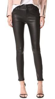 Кожаные брюки Maria с высокой посадкой J Brand