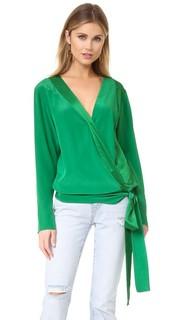 Блуза с длинными рукавами и перекрещенной отделкой Diane von Furstenberg