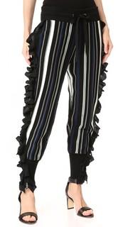 Спортивные брюки с молниями и оборками в полоску 3.1 Phillip Lim