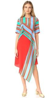 Платье с короткими рукавами и оборками спереди Diane von Furstenberg