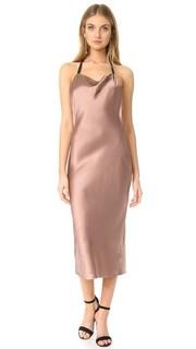 Платье-комбинация косого кроя с воротником-хомутом Fleur du Mal