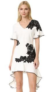 Развевающееся кружевное платье-футболка Jonathan Simkhai