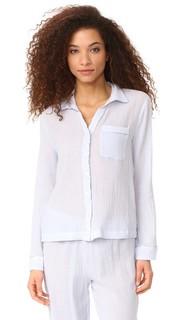 Пижамная рубашка с окантовкой Skin