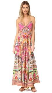 Длинное платье Hani Honey с завязками спереди Camilla