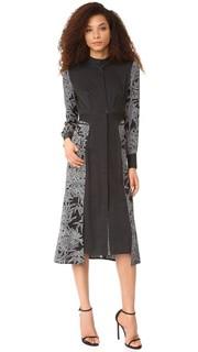 Платье-рубашка с завязками на талии и длинными рукавами Diane von Furstenberg