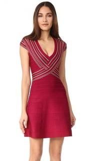 Платье Noa с V-образным вырезом Herve Leger