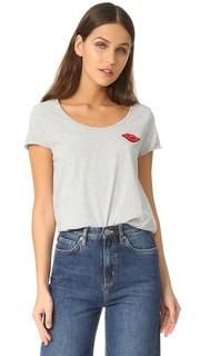 Полосатая футболка с вышитыми губами Scotch & Soda/Maison Scotch