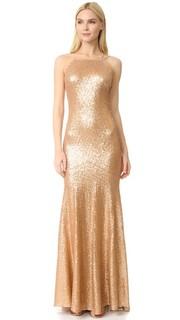 Платье без рукавов Jessica со шлейфом Theia