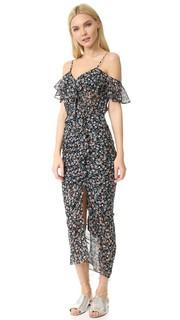 Платье Marilyn с оборками и открытыми плечами Veronica Beard