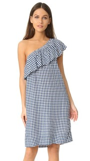 Платье с открытым плечом Virgie Velvet