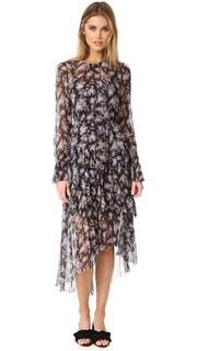 Платье с перекрученным ярусом Zimmermann