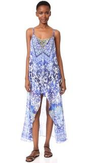 Мини-платье Guardian of Secrets с длинным накладным элементом Camilla