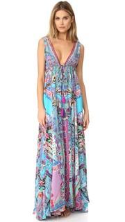 Длинное платье с V-образным вырезом Festival Friends Camilla