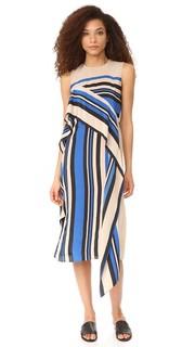 Платье без рукавов с оборками Diane von Furstenberg