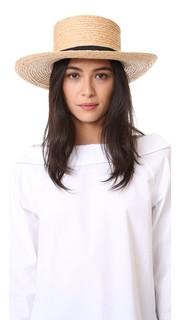 Шляпа Boater из заплетенной колосом рафии Hat Attack