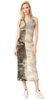 Платье с камуфляжным принтом MM6