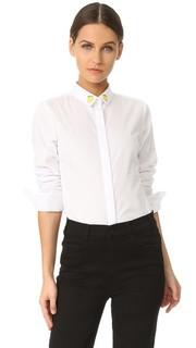 Рубашка на пуговицах с лимонами Maison Labiche