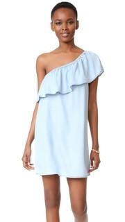 Платье с открытым плечом и оборками BB Dakota