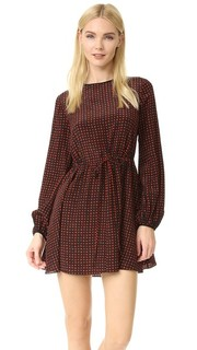 Платье с округлым вырезом и длинными рукавами Diane von Furstenberg
