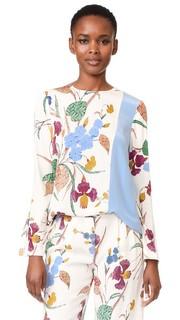 Блуза с длинными рукавами и разрезами сбоку Diane von Furstenberg