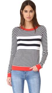 Полосатый свитер с округлым вырезом 525 America