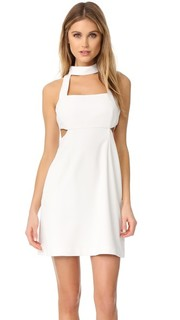 Мини-платье с вырезами и завязками уздечкой Jill Jill Stuart