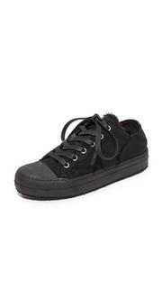 Холщовые кроссовки на шнуровке MM6
