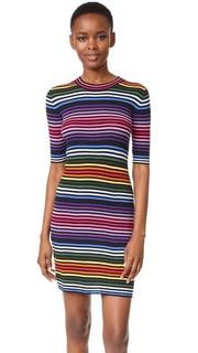 Платье-свитер с радужными полосками Marc Jacobs