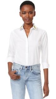 Рубашка с пуговицами и пантерами Maison Labiche