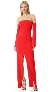 Вечернее платье с открытыми плечами Mugler