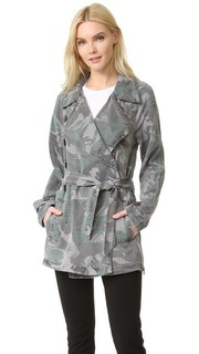 Пальто-тренч с камуфляжным принтом PAM & Gela