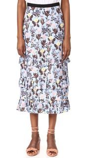 Макси-юбка с оборкой Vivetta