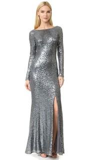 Вечернее платье с блестками Giselle Bateau Theia