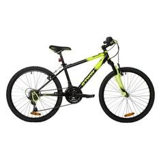 """Горный Велосипед 24"""" Желтого Цвета Rockrider 500 Btwin"""