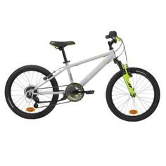 """Детский Велосипед 20"""" Серого/неонового Цвета Racing 500 Btwin"""