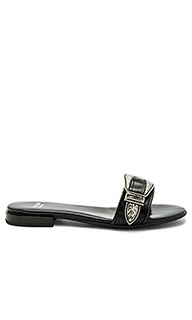 Buckle leather slide - TOGA PULLA